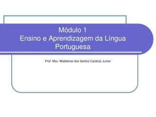 M dulo 1  Ensino e Aprendizagem da L ngua Portuguesa