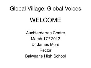 Global Village, Global Voices