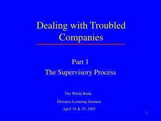 Dealing with Troubled Companies