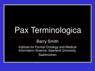 Pax Terminologica