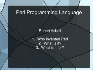 Perl Programming Language