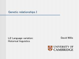 Genetic relationships I