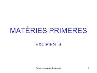 MAT RIES PRIMERES
