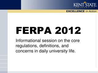 FERPA 2012
