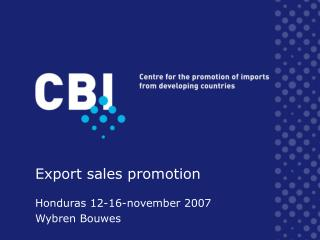 Export sales promotion