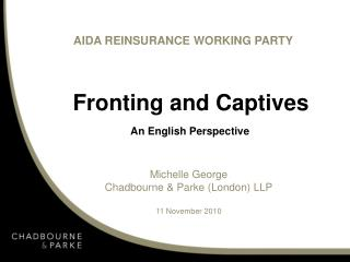 Fronting and Captives