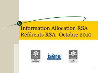 Information Allocation RSA R f rents RSA- Octobre 2010
