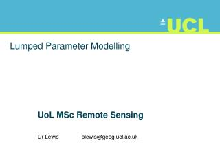 Lumped Parameter Modelling