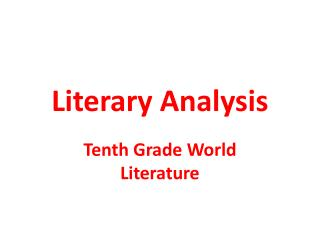 an introduction to the literary analysis of the cordelia A literary analysis is not merely a summary of a literary work instead, it is an argument instead, it is an argument about the work that expresses a writer's personal perspective.