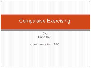 Compulsive Exercising