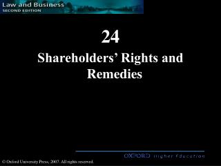 Shareholders  Rights and Remedies