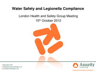 Water Safety and Legionella Compliance