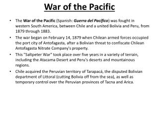War of the Pacific