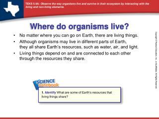 Where do organisms live