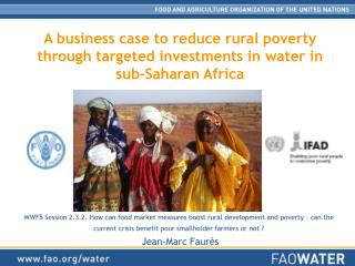 A business case to reduce rural poverty through targeted investments in water in  sub-Saharan Africa