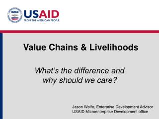 Value Chains  Livelihoods