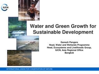 Water and Green Growth for Sustainable Development