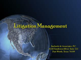 Suchocki  Associates, P.C. 6320 Southwest Blvd, Suite 222 Fort Worth, Texas 76109