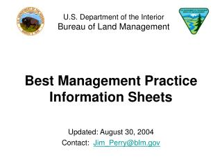 best management practice information sheets