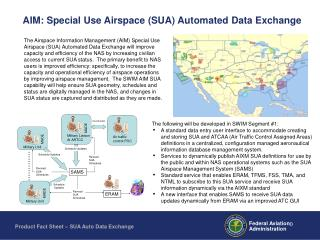 aim: special use airspace sua automated data exchange