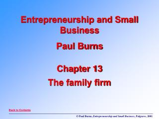 Chapter 13 The family firm