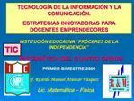 TECNOLOG A DE LA INFORMACI N Y LA COMUNICACI N.  ESTRATEGIAS INNOVADORAS PARA DOCENTES EMPRENDEDORES