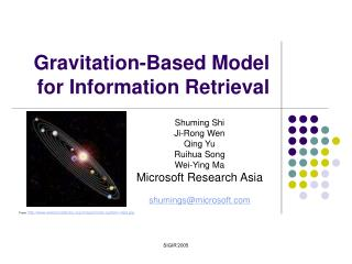Gravitation-Based Model for Information Retrieval