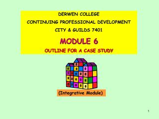 DERWEN COLLEGE  CONTINUING PROFESSIONAL DEVELOPMENT CITY  GUILDS 7401 MODULE 6 OUTLINE FOR A CASE STUDY