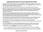 Legal approval process for grant agreements LOA