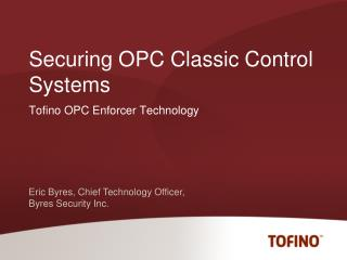 Securing OPC Classic Control Systems