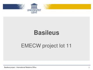 Basileus  EMECW project lot 11