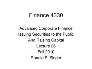 Finance 4330