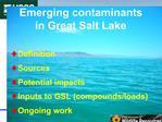Emerging contaminants in Great Salt Lake