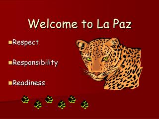 Welcome to La Paz