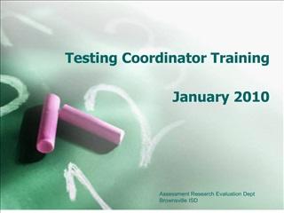 testing coordinator training