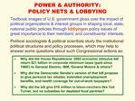 POWER  AUTHORITY: POLICY NETS  LOBBYING