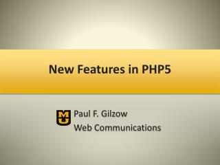 New Features in PHP5