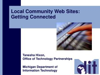 Local Community Web Sites: Getting Connected
