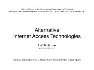 Alternative  Internet Access Technologies