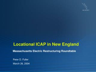 Locational ICAP in New England