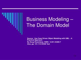 business modeling   the domain model