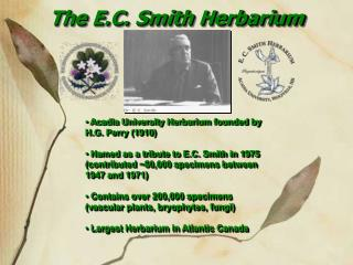 The E.C. Smith Herbarium