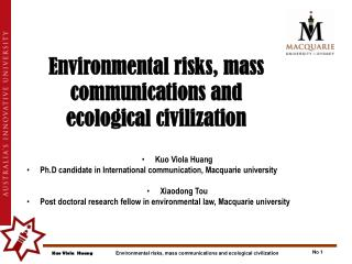 Environmental risks, mass communications and  ecological civilization