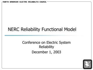 nerc reliability functional model