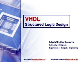 VHDL  Structured Logic Design