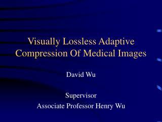 Visually Lossless Adaptive Compression Of Medical Images