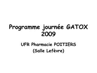 Programme journ e GATOX 2009