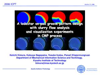 Keiichi Kimura, Katsuya Nagayama, Yosuke Inatsu, Panart Khajornrungruan Department of Mechanical Information Science and