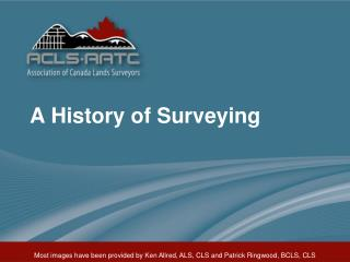 A History of Surveying
