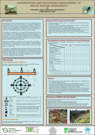 CONSERVATION AND SUSTAINABLE MANAGEMENT OF BELOW GROUND BIODIVERSITY
